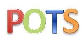 colorful letters spell the word pots