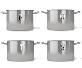 four cooking pots