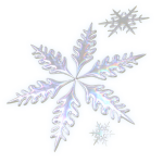 three decorative snowflakes