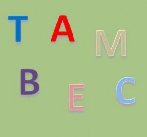 letters a, b, c, e, m, and  t are grouped together