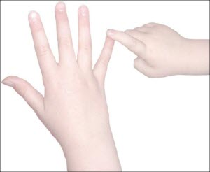 touching the smallest finger