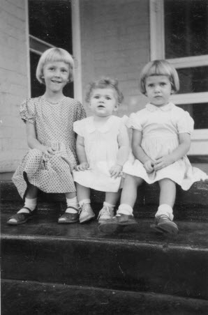 three girls on steps